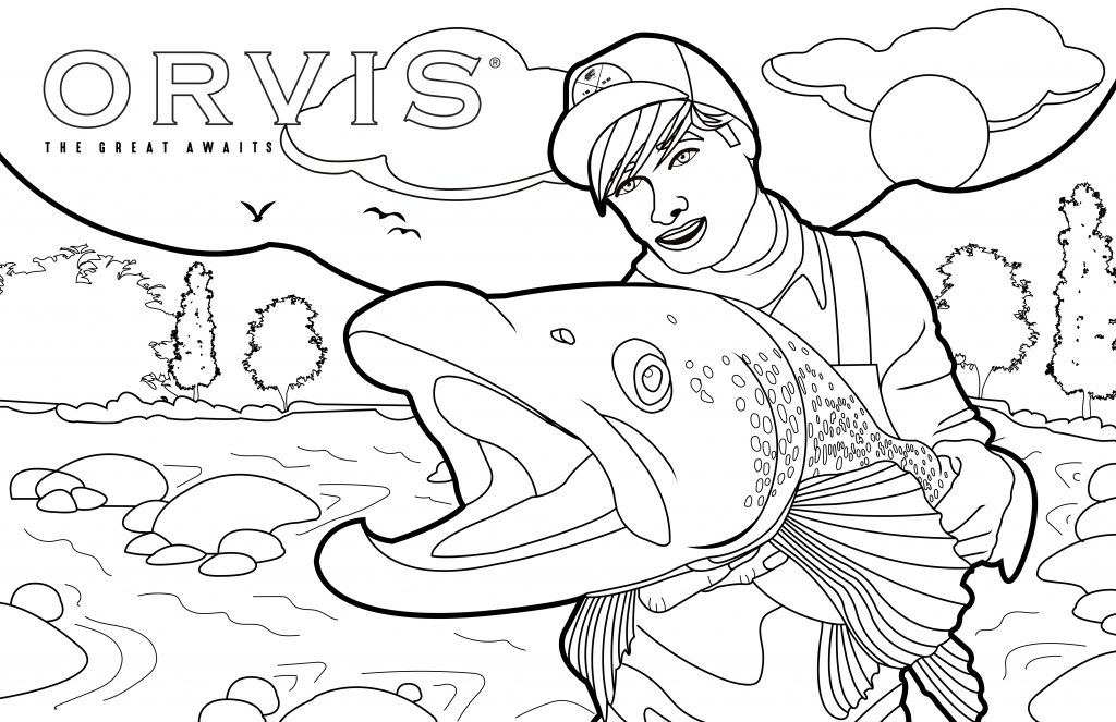Coloring Page Fish Orvis News