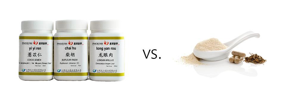 Concentrated Herbal Granules Vs. Raw Herbal Powders