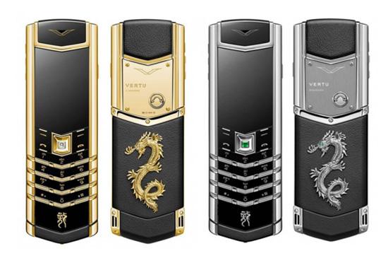 Vertu เปิดตัวมือถือลายใหม่ต้อนรับปีมังกร ตกแต่งด้วยทองคำและเพชร