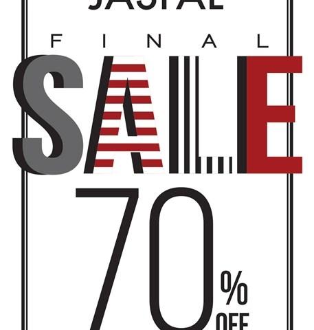 โปรโมชั่น Jaspal  FINAL SALE 70% OFF ( 6 ก.พ.58 เป็นต้นไป)