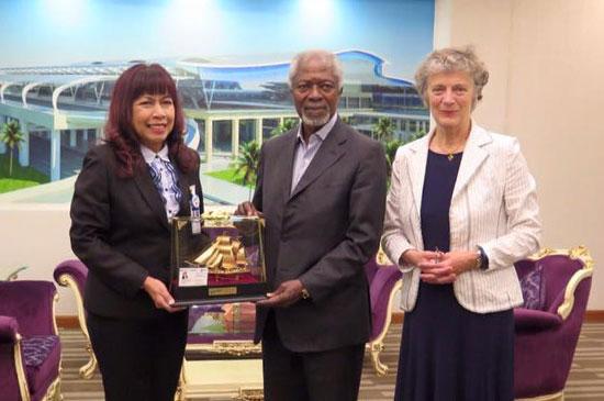 Mr.Kofi Annan เดินทางมาเยือนจังหวัดภูเก็ต