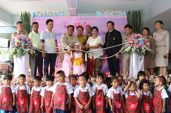 พิธีเปิดอาคารเรียนศูนย์พัฒนาเด็กเล็กบ้านท่าเรือใหม่