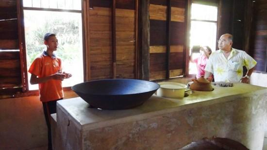 หัวโพทำกับข้าวในห้องครัว