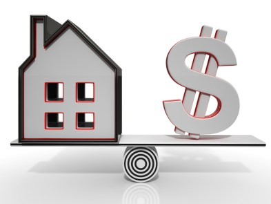 House And Dollar Balancing Show Investment