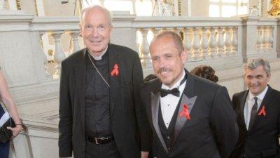 Christoph Schönborn, Gery Keszler 10.06.2016, Wien, Burgtheater, Red Ribbon Celebration Concert