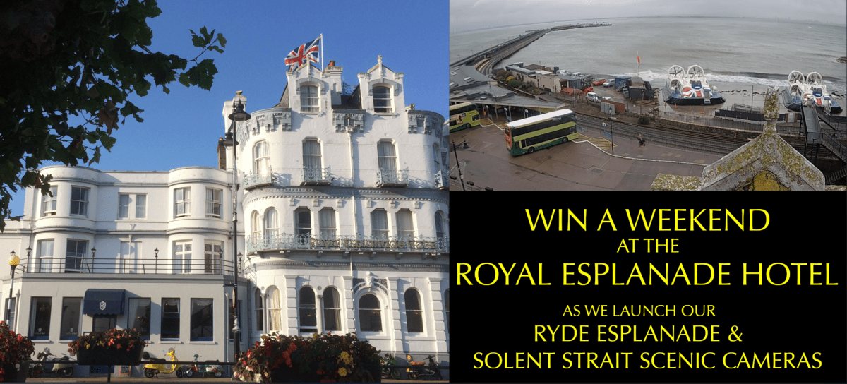 Railcams ticket to Ryde – New cameras and the chance to win a weekend at the Royal Esplanade Hotel!