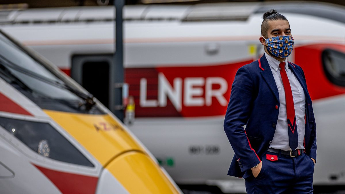 LNER MARKS £230,000 RAISED FOR CAMPAIGN AGAINST LIVING MISERABLY WITHNEW LIMITED-EDITION AZUMA FACE MASK