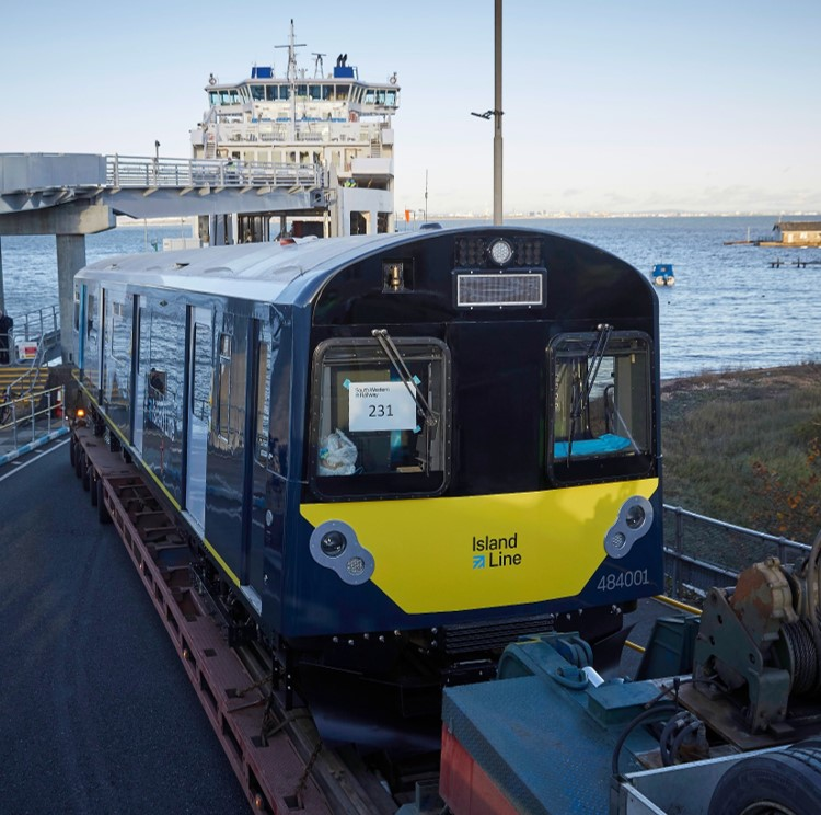 Former London Underground District Line trains swap the City for Island life