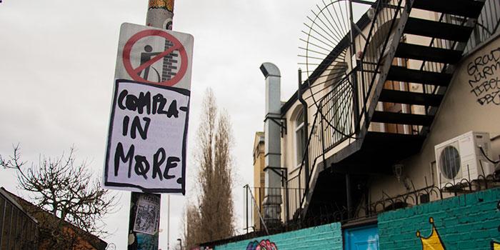 Graffiti In Shoreditch, London   Complain More (12566020655)