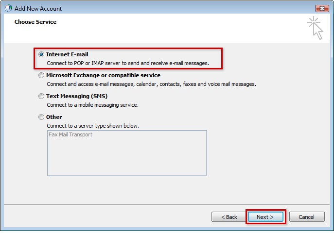 Setup Outlook 2010 or Outlook 2013 (Windows) for IMAP