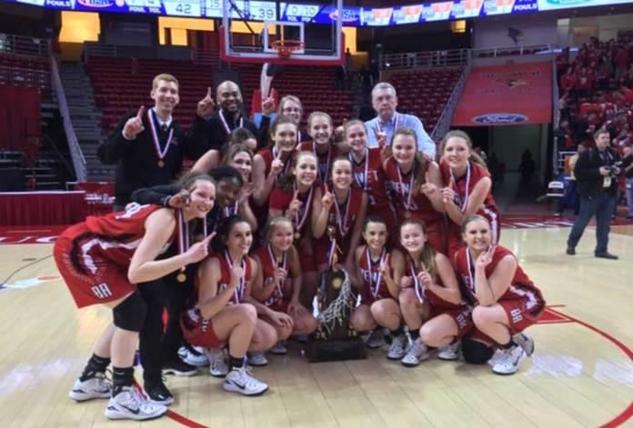 Benet, girls' basketball champs, Class 4A, IHSA
