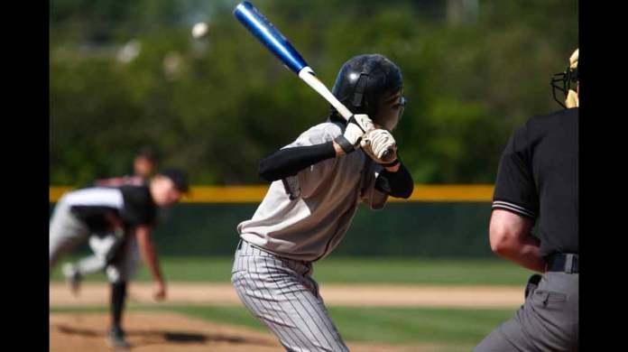 Baseball pitch in high school
