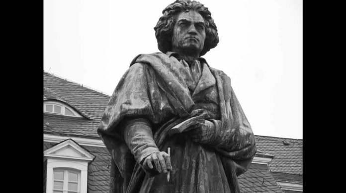 statue of Ludwig van Beethoven in Bonn, Germany