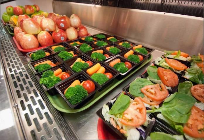 USDA lunch line at high school in Arlington Va.