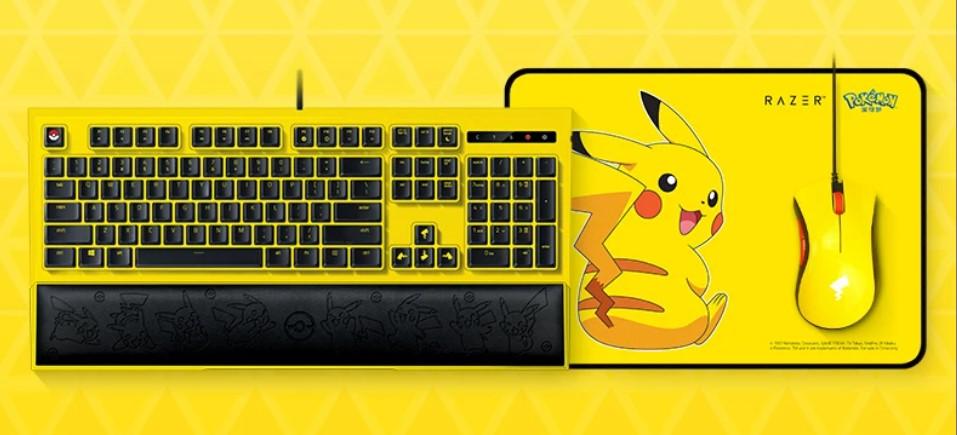 pikachu razer keyboard and mouse