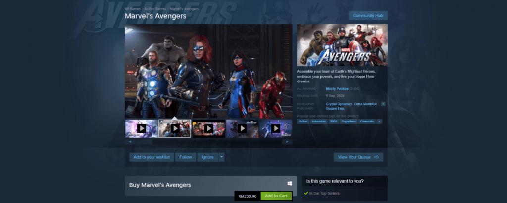 marvel's avengers on sale