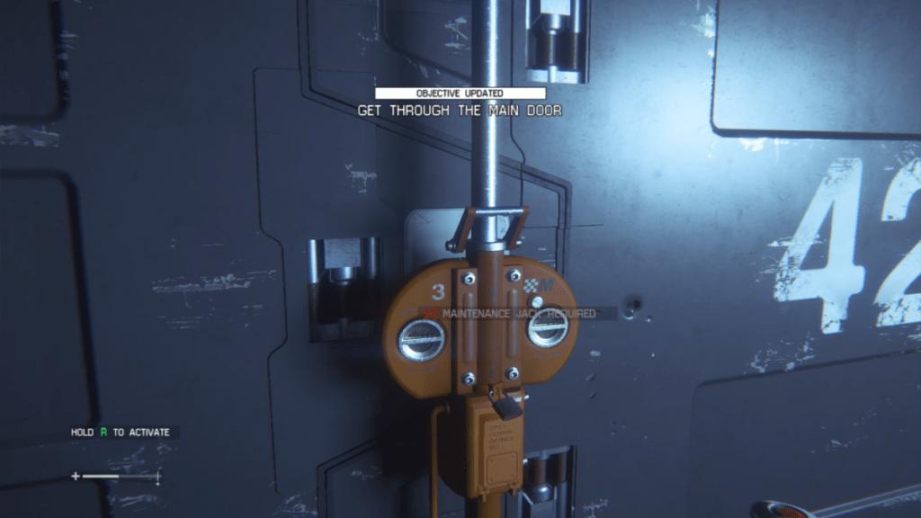 how to open the main door alien isolation