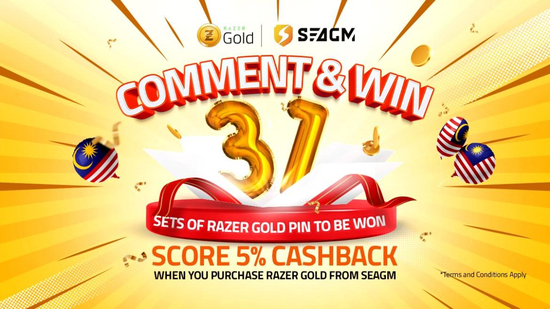SEAGM Razer Gold Lucky Winner Comment & Win Campaign
