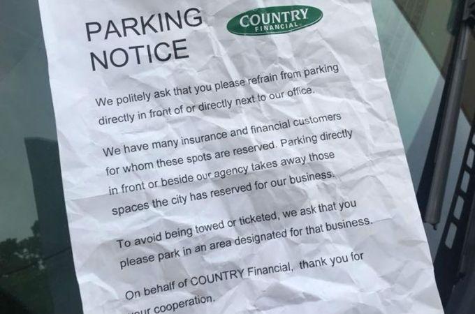 Spokane business threatens next door business over parking