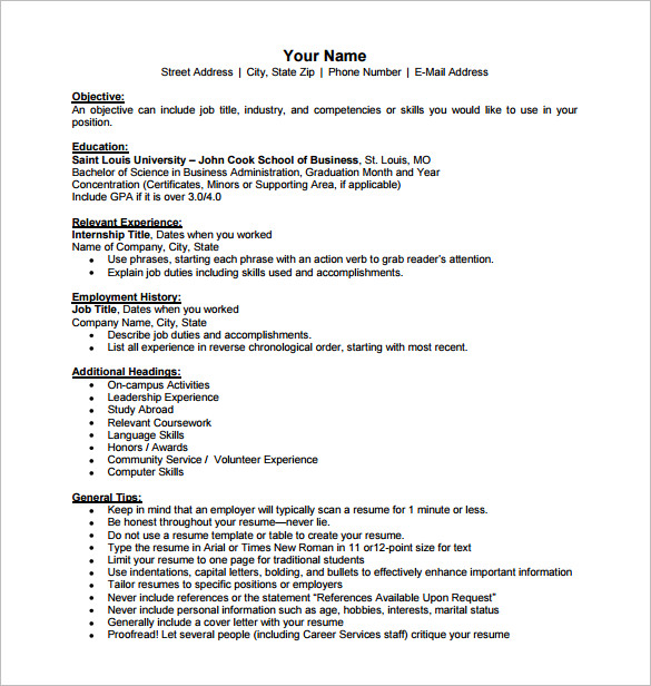 Free Business Resume Templates News