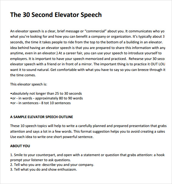 business elevator pitch examples news