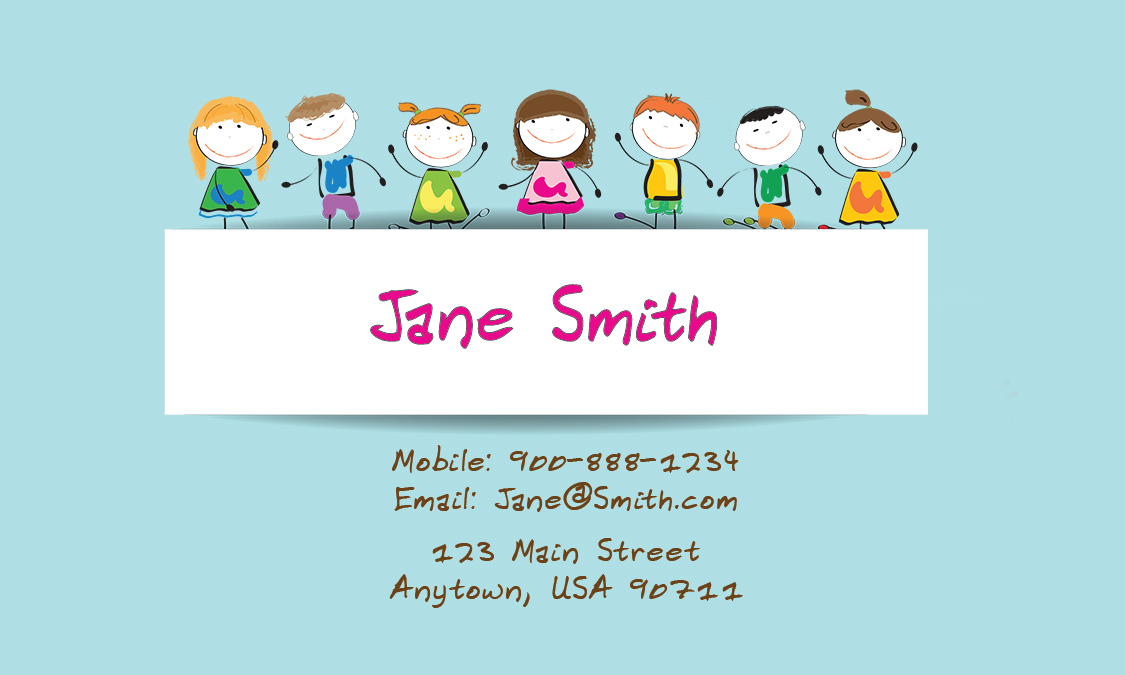 Babysitting Business Card Template News