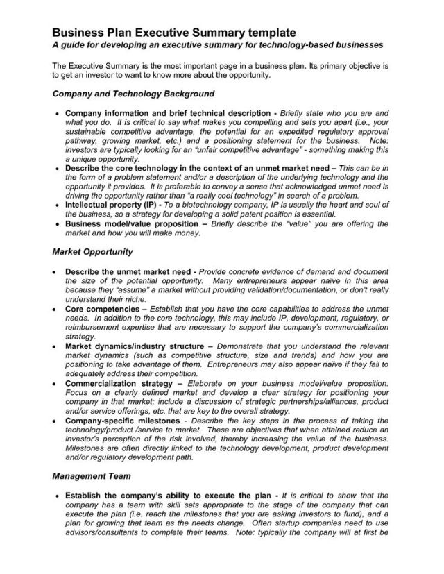 Business executive summary format news fbccfo Image collections