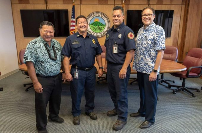 Maui Now : Thyne and Ventura Sworn in as Maui Fire Chief and Deputy