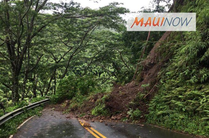 Maui Now : TRAFFIC ALERT: Multiple Landslides on Hāna Highway