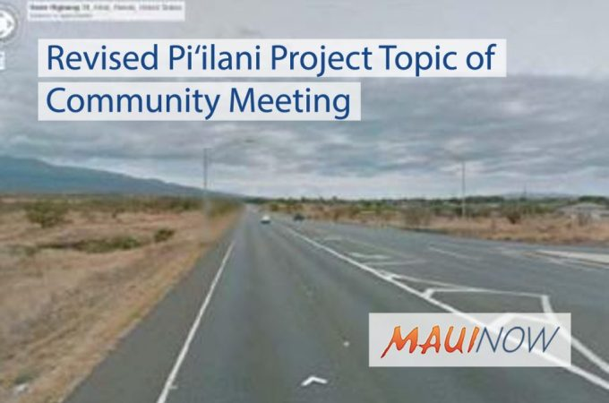 Maui Now : Revised Pi'ilani Project Topic of Community Meeting