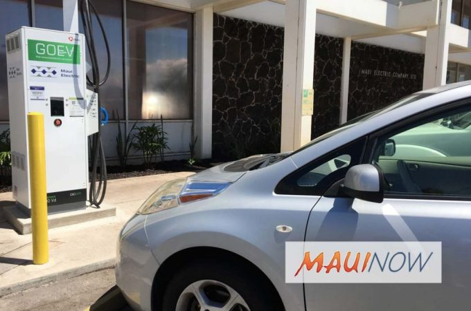 Maui Now : Maui Electric Debuts Electric Vehicle Fast Charging Station