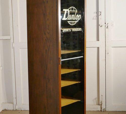Art Deco Tall Haberdashery Dunlop Sports Cabinet