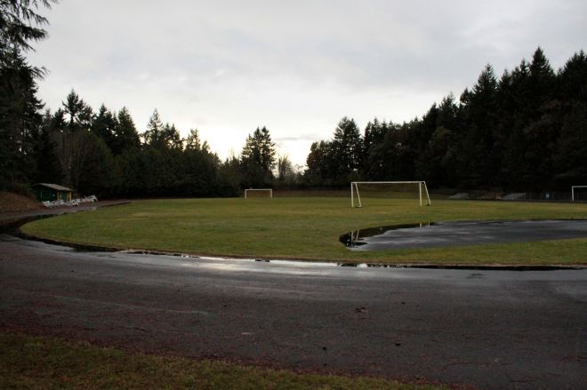 The current Shoreline Community College soccer field and track is the proposed sight for a 400-bed student housing facility that would be built with private funds.