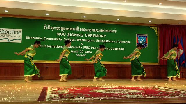 Dancers in Cambodia photo