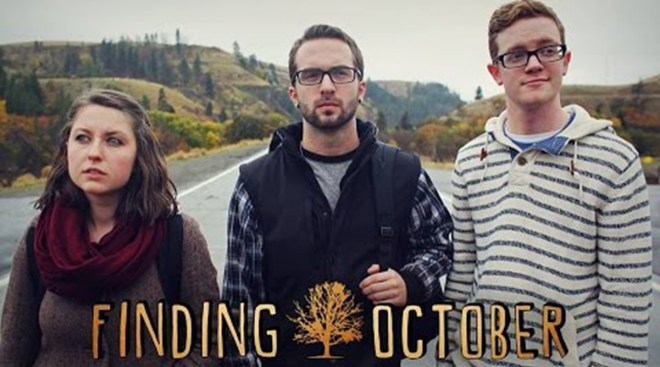 Shoreline Community College digital film program alumni Nick Terry (far right) stars in Finding October, a film he wrote, produced, directed, and edited and is premiering at SIFF 2016 on Mon., May 30.