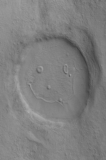happy face, mars