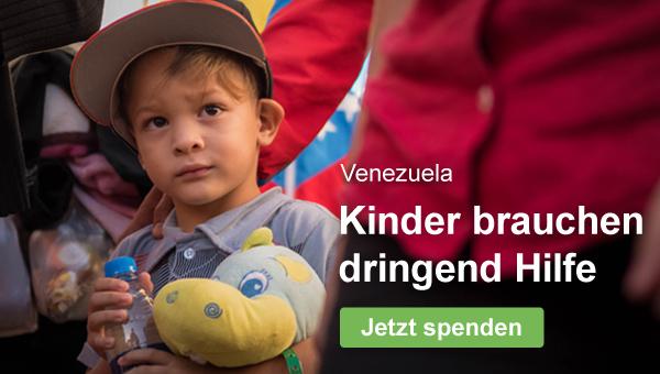 Venezuela: Kinder brauchen dringend Hilfe - jetzt spenden!