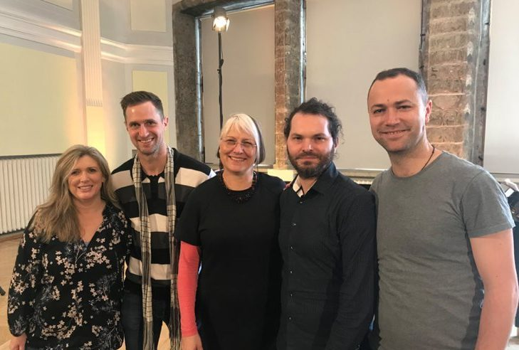 Diana Marsh with Chris Gendall, Glenda Keam, Simon Eastwood and Tristan Carter