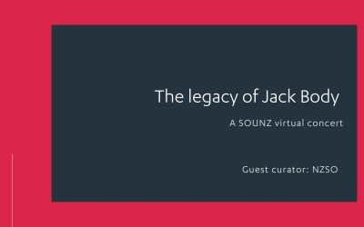 The legacy of Jack Body