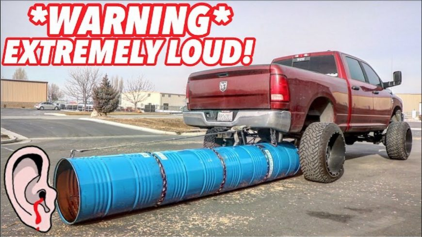 worlds biggest and loudest exhaust tip