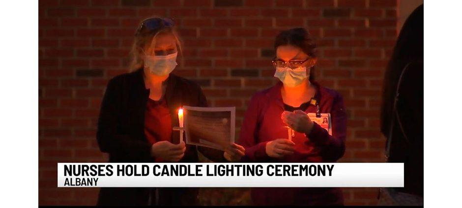 wten st peter s nurses light candles