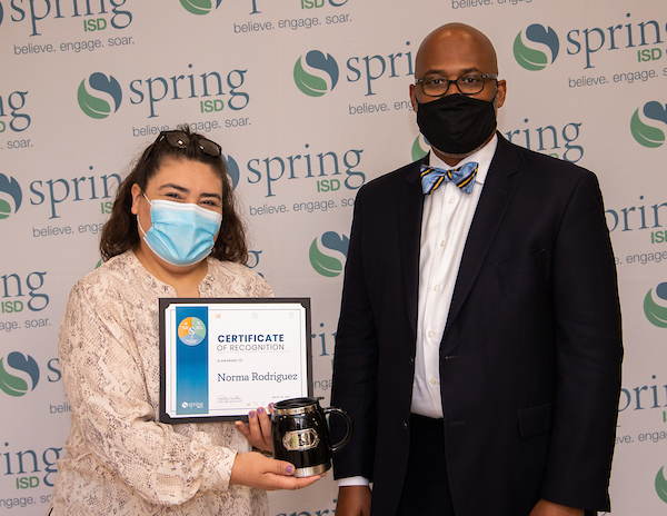 Norma Rodriguez and Dr. Rodney Watson
