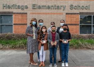 Heritage Elementary School Odyssey of the Mind team