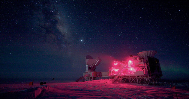 South Pole station where the scientists made the discovery