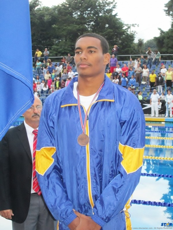 Swimmer Jordan Augier came away with silver and bronze at the Central American and Caribbean Championships.