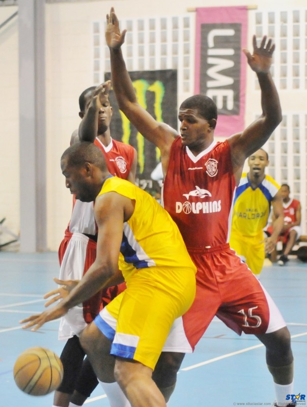 Marcian Calderon of VBCC Warlords (foreground) was the Tournament  MVP of the National Basketball Premiere League Division.