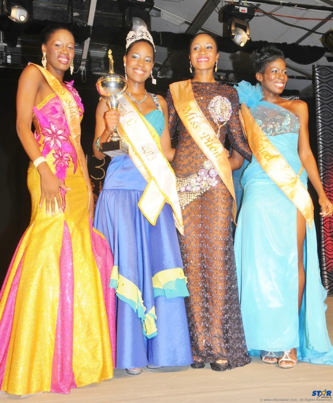 From left: Second runner-up Zena George, 2013 Carnival Queen Amy Stephen, first runner-up Jamara Smith and third runner-up Michelle St Clair.