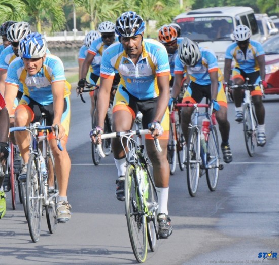 Cyclists competed in a 60 km road race over the weekend.