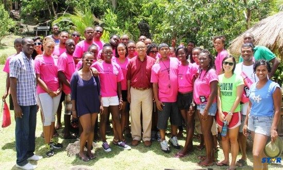 Young people at the NYC's Kalinago Heritage Camp supported by LIME.