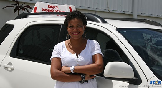 First Lady of andy's Driving School, Shama Bergeron-Marcellin.